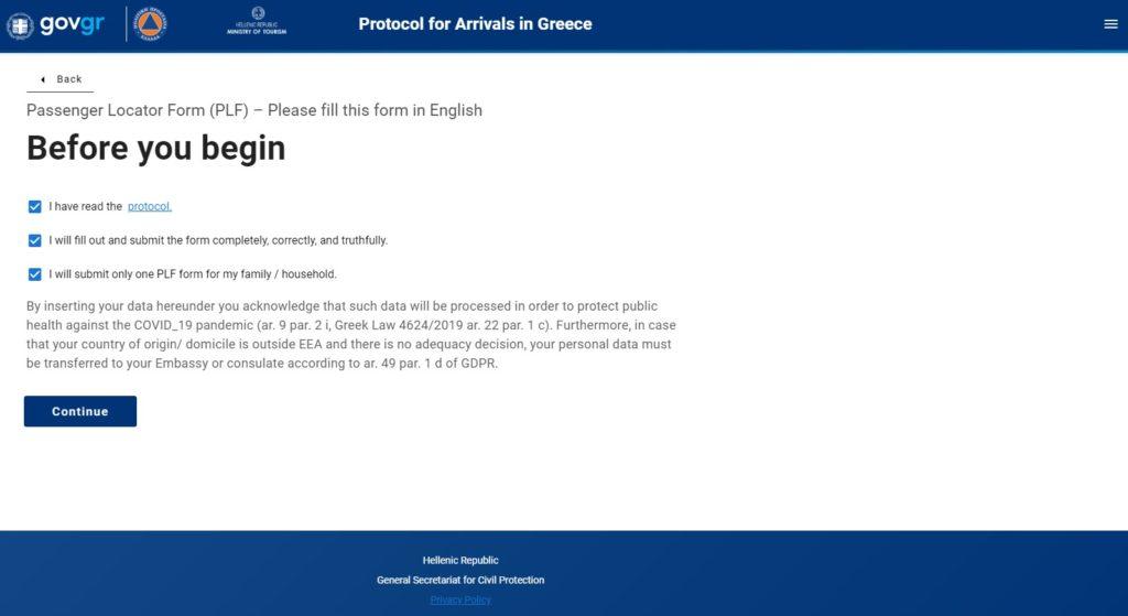 Modulo PLF Grecia