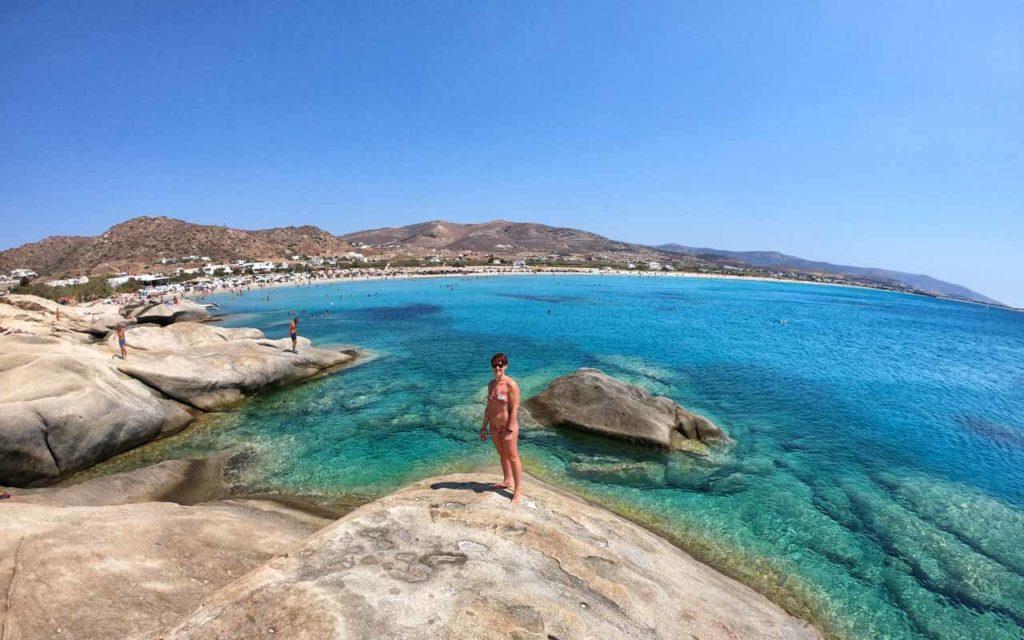Naxos, la parte Nord della spiaggia di Mikri Vigla